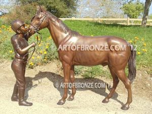 My Love bronze sculpture of equestrian show jumping hunter jumper horse