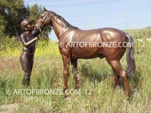 My Love bronze sculpture of equestrian show jumping hunter jumper horse