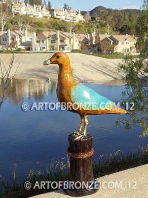 Shoreline Serenity bronze sculpture of life-size seagull for indoor or outdoor display