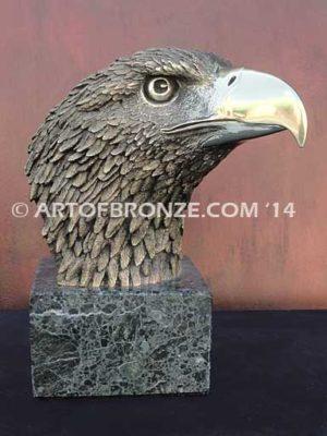 Pride limited-edition lost wax bronze sculpture of eagle head