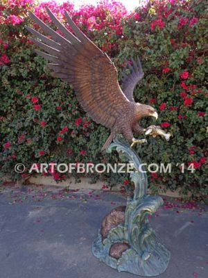 Almighty bronze sculpture of eagle monument for public art