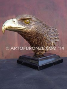 Freedom of the Sky limited-edition lost wax bronze sculpture of eagle headvvvv
