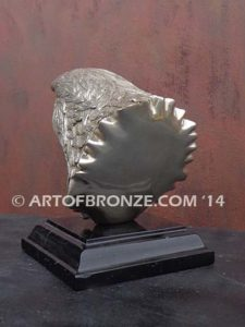 Freedom of the Sky limited-edition lost wax bronze sculpture of eagle head