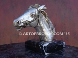 Magnificent sculpture bust of thoroughbred horse for home or office