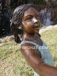 New Surprise sculpture of teenage girl in bathing suit and shell