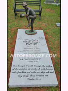 Fast Ball bronze sculpture of baseball pitcher for memorial park