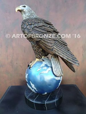 Limited edition bronze eagle sculpture for private collector