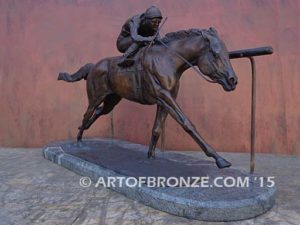 For the Roses sculpture of Kentucky Derby winner My Boy Jack with #10 Silks
