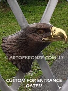 Freedom of the Sky bronze bas relief bald eagle head wall mount