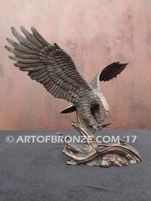 Limited edition bronze eagle sculpture for corporate gift, award or present