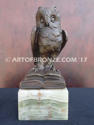 Knowledge & Wisdom lost wax casting of great horned owl gift or mascot
