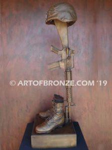 Battle Cross life-size bronze sculpture Marine Corps Base Camp Lejeune, North Carolina