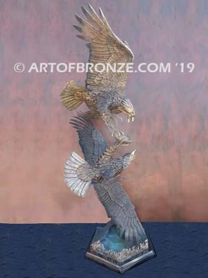 Team Commissary limited edition gallery bronze eagle by artist Michael Maiden