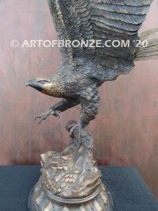 Eagle II flying eagle sculpture corporate gift or award