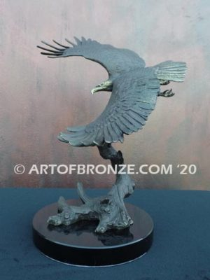 Limited edition bronze eagle sculpture for private collector or corporate collection