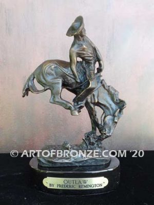 Outlaw sculpture corporate gift award after Frederic Remington
