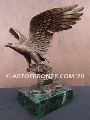 Wings of Justice sculpture of flying bald eagle corporate gift award