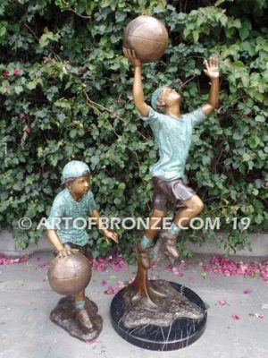 dream-team-two-bronze-basketball-players