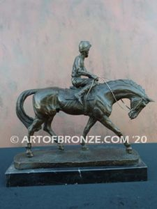 After the Race sculpture beautiful gift award attached to marble base