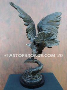 Eagle IV flying eagle sculpture corporate gift or award