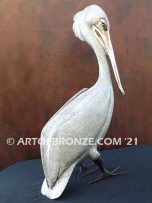 Standing Pelican sculpture pelican standing by British artist Brian Arthur